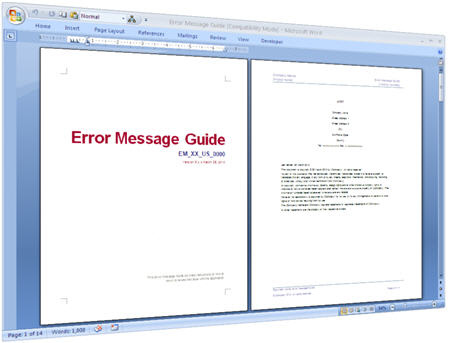 Error Message Guide